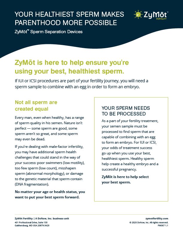 ZyMōt: Delivering your healthiest sperm. Naturally.